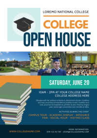 College Open House Flyer A4 template