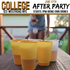 COLLEGE PARTY EVENT AD