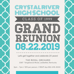 College Reunion Invitation Template Design