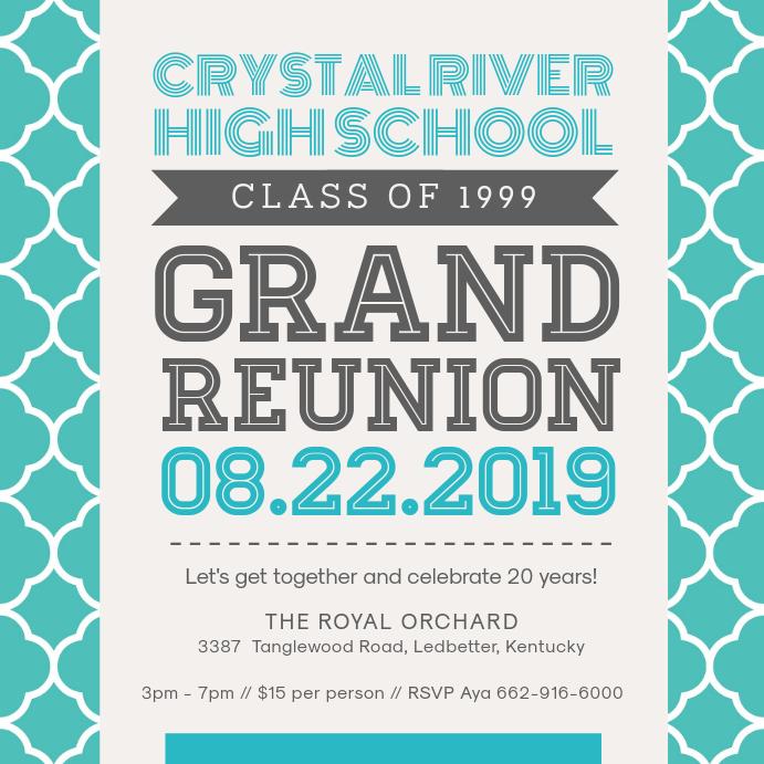 College Reunion Invitation Template Design