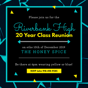 College Reunion Party Invitation Template