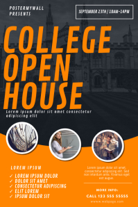 College School Open House Flyer Template