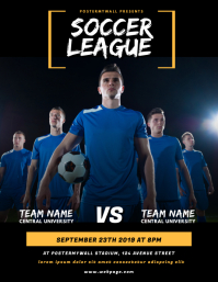 College Soccer Flyer Template