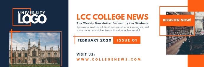 College University News Email Header