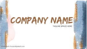 front of COLOR BUSINESS CARD LOGO DESIGN template