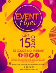 COLOR COLORFUL EVENT PARTY Flyer template