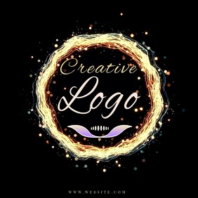 color colorful RING LOGO Design TEMPLATE