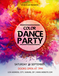 Color Dance Party Flyer Template