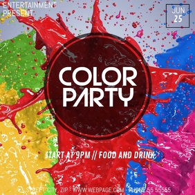 Color Disco party video flyer template