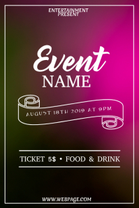 Color event flyer template