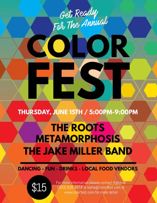 Color Fest Flyer