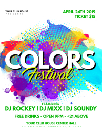 customizable design templates for color party flyer template