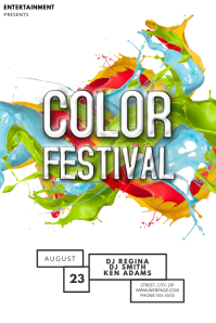 Color Festival Flyer Template