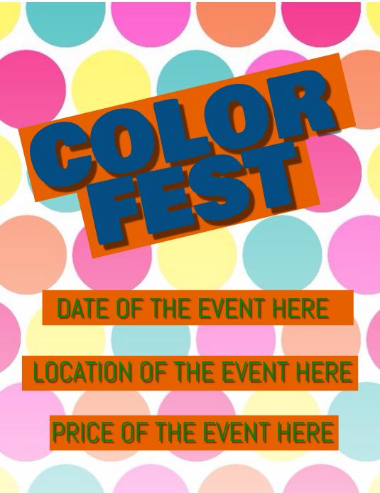 color festival flyer template