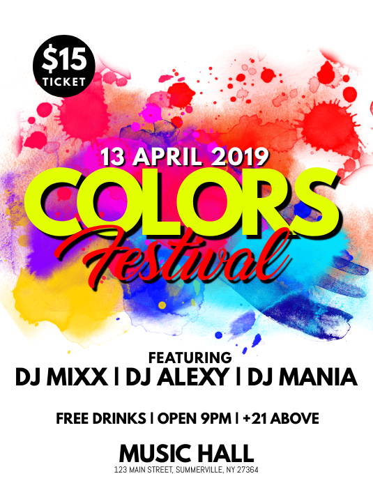 Color Festival Flyer