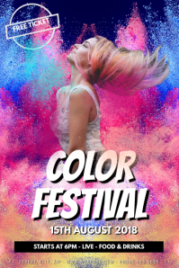 Color Festival Powder PartyEvent Flyer Template