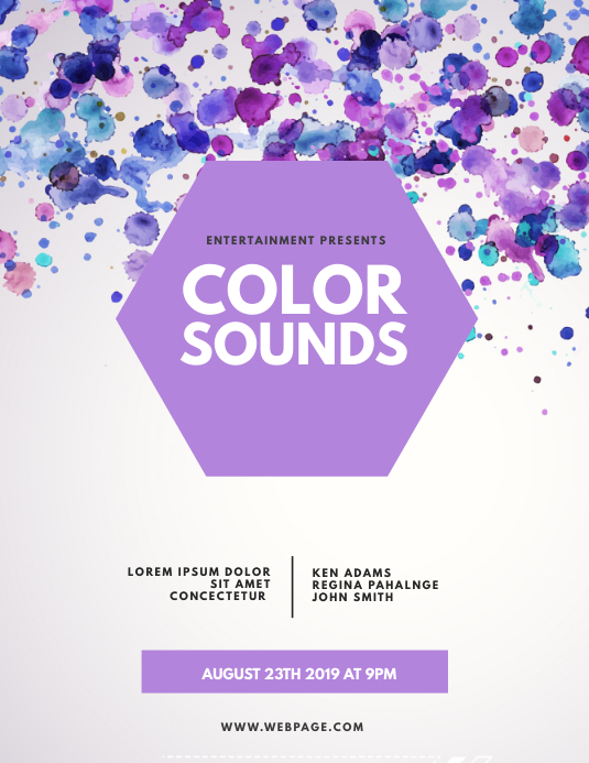 Color flyer template