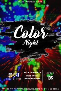 Color night event flyer template