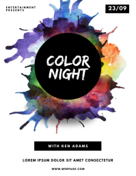 Color Night Party Flyer Design Template