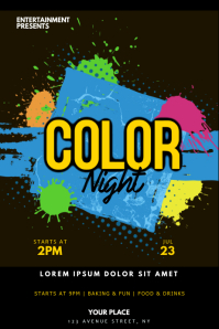 Color Night Party Flyer Template