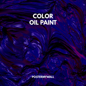 Color Paint Music CD Cover Template