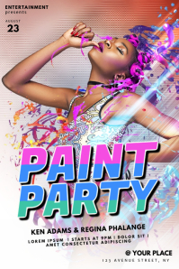 Color Paint Party Flyer Template