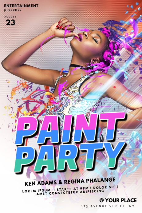 Color Paint Party Flyer Template