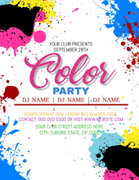 Color Party Event Flyer Template