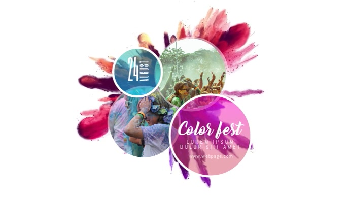 Color party Event Video Template for Facebook