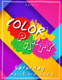 Color Party - Flyer