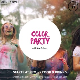 Color party Video Template