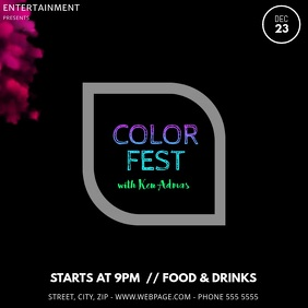 Color Powder Fest Event Party Video Promotion Instagram