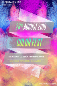 Color Powder Party Event Flyer Template