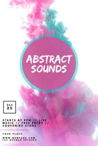Color Smoke pastel party flyer design