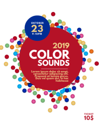 Color Sounds flyer template