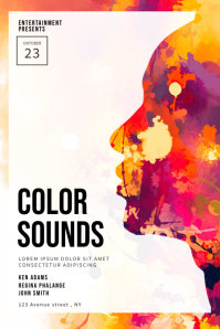Color Sounds Party Flyer Template