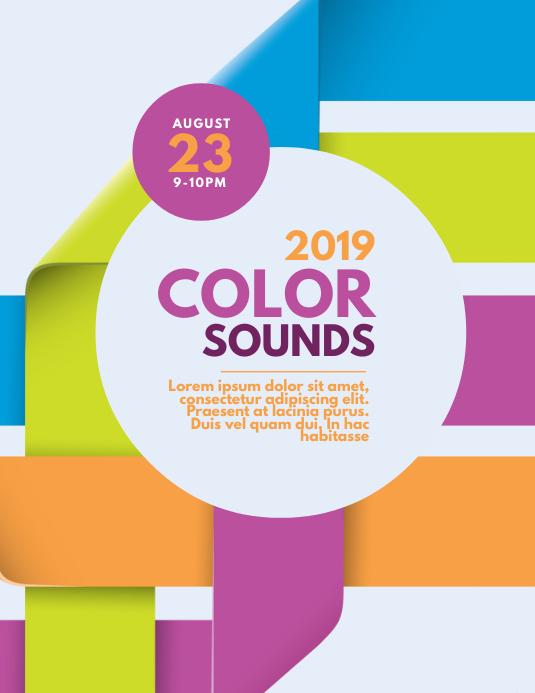 Color Sounds Party Flyer Template