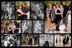 Color Splash Family Collage