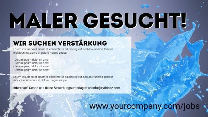 Color Splashes Explosion Banner Info Cover Ad Ikhava Yevidiyo ye-Facebook (16:9) template