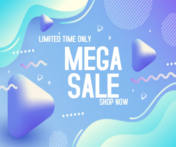 Colorful abstract mega sale Middelgrote rechthoek template