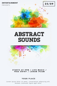 Colorful Abstract Party Flyer Template