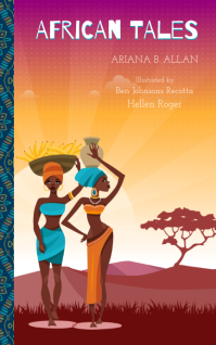 Colorful African Girls in Desert Book Cover T