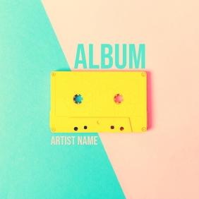 Colorful Album art cassette