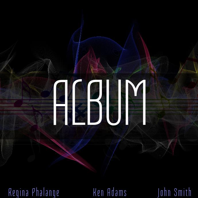 Colorful Album Cover Template