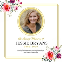 Colorful and floral death anniversary invitat Сообщение Instagram template