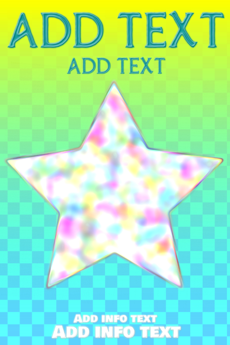 colorful bright star on soft colored squares template postermywall
