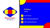 Colorful Business Card Kartu Bisnis template
