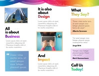 Colorful Business Trifold Brochure Back Flyer (Letter pang-US) template