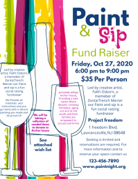 Colorful Charity Fundraiser Event Flyer