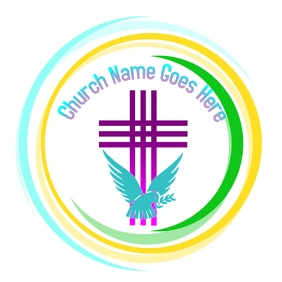 Colorful church logo template